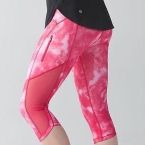 Pink Tie Dye Crop Leggings